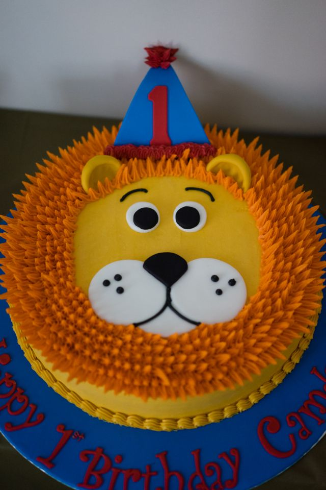 Lion First Birthday Party Lion birthday Birthday cakes and Lions
