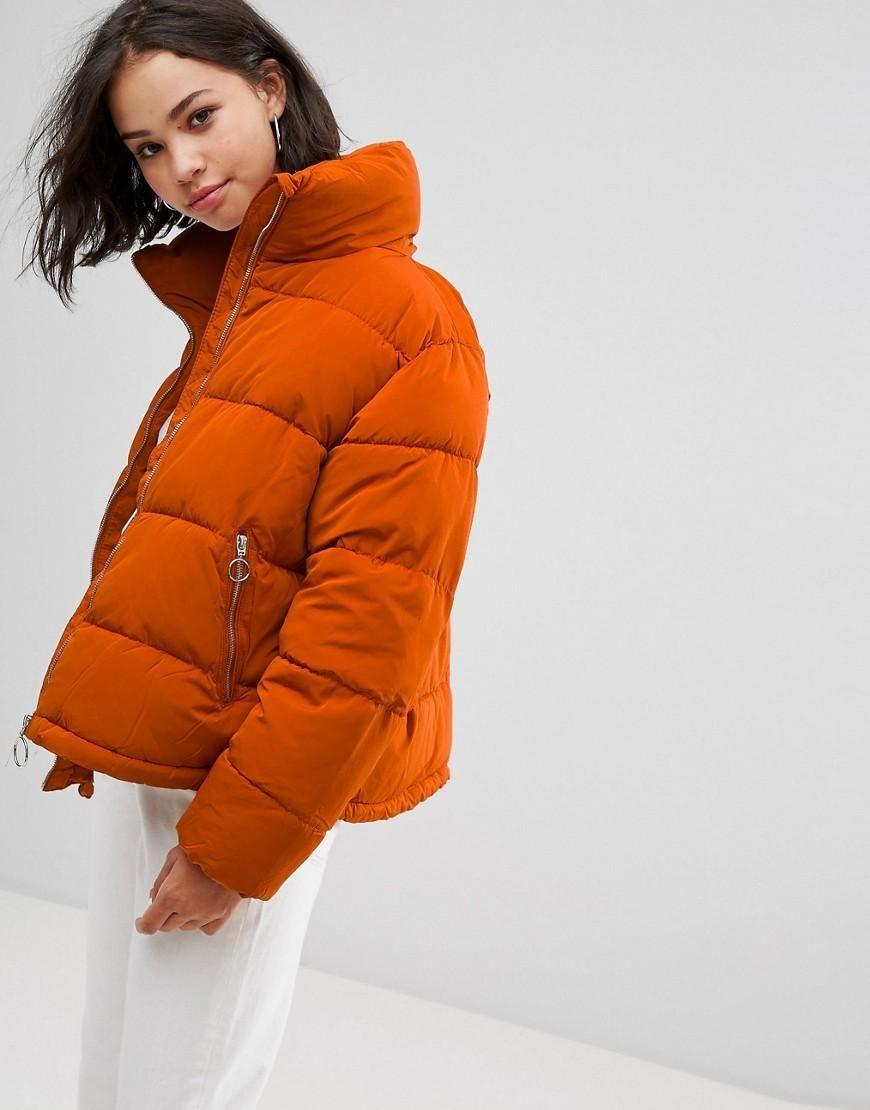 d441a6210d33 ASOS -  Pull   Bear Pull   Bear Padded Jacket - Orange - AdoreWe.com ...