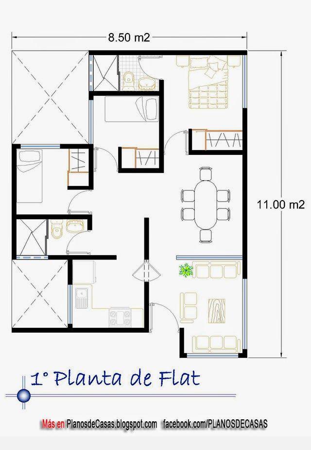 Planos de departamento d plex y flat planos pinterest for Planos de casas economicas