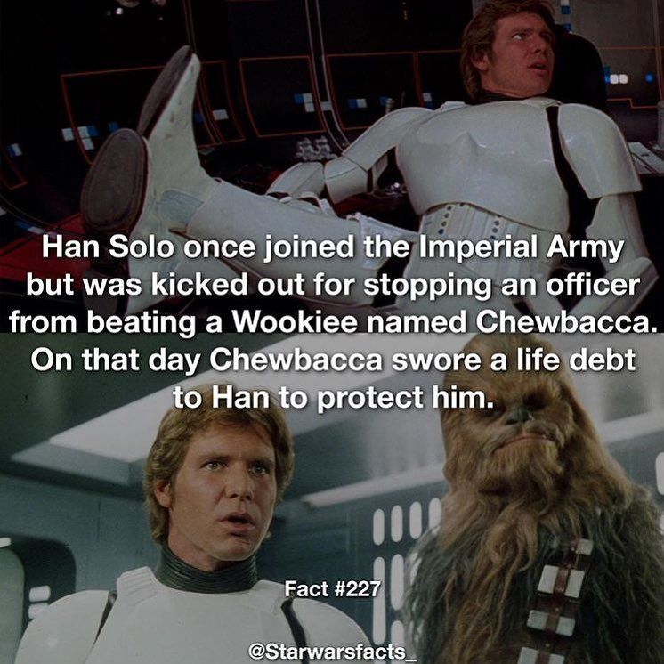 And That S How They Became Bff S Starwars Facts Expandeduniverse Starwarsfacts Star Wars Facts Star Wars Quotes Star Wars Humor