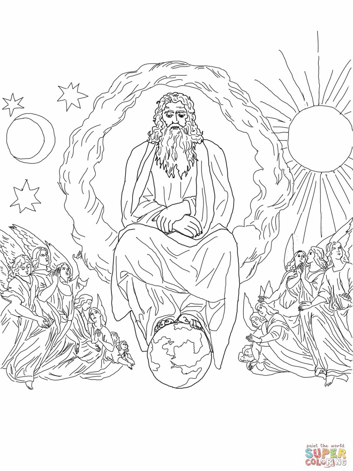 Creation God Created The World In 7 Days Bible Coloring Pages