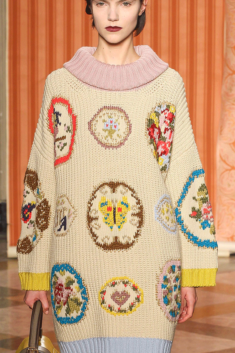 Antonio Marras F/W '13 | detail of whimsical embroidery