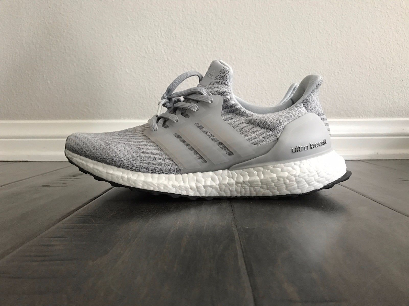 ds adidas ultra boost 3 0 clear grey men size 7 5 bb6059 primeknit rh pinterest com