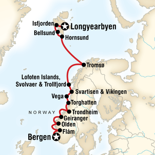 Map Of Norwegian Fjords Arctic Discovery Longyearbyen