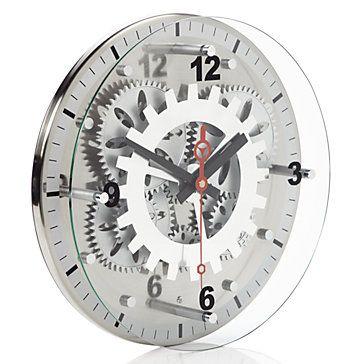 9d675909b832 Industrial chic Moving Gear Wall Clock, $69.95 #ZGallerie Wall Clock Gift, Wall  Clocks