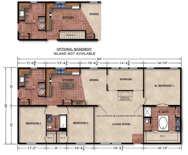 Michigan Modular Home Floor Plan 146-neat layout | home ideas ...