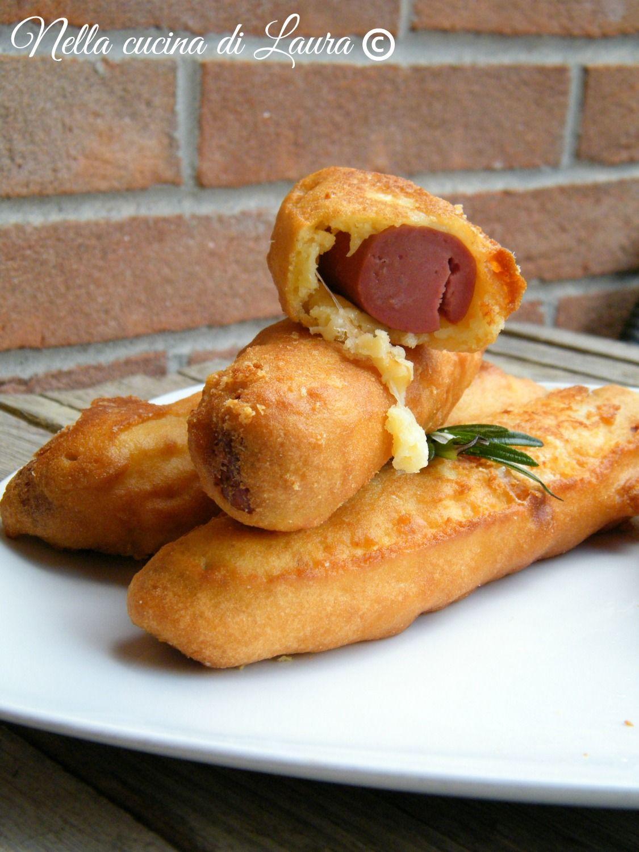 Hot dog on a stick - wurstel fritti