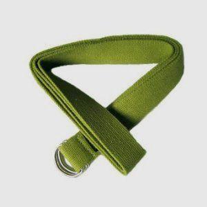 Olive green yoga belt