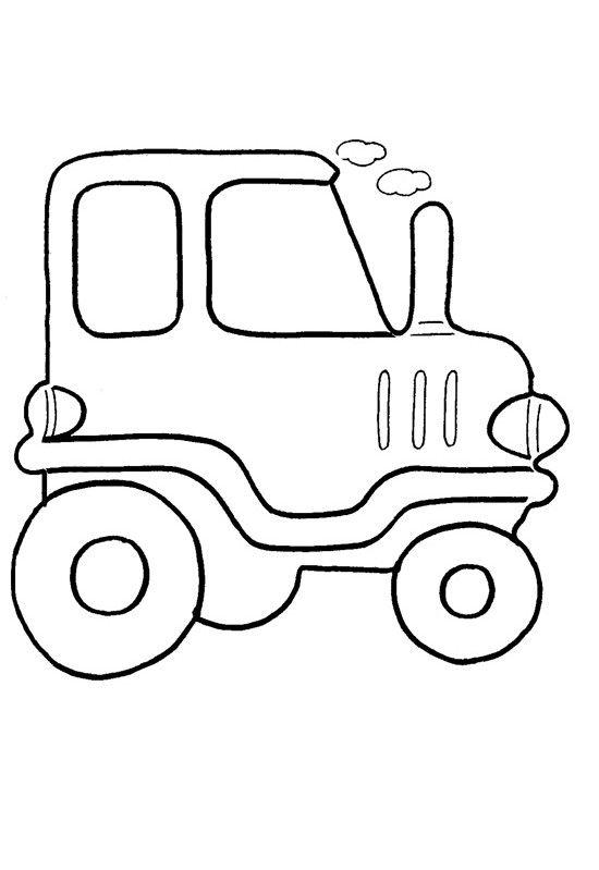 Трактор - Раскраски для малышей | Рисунки для ...