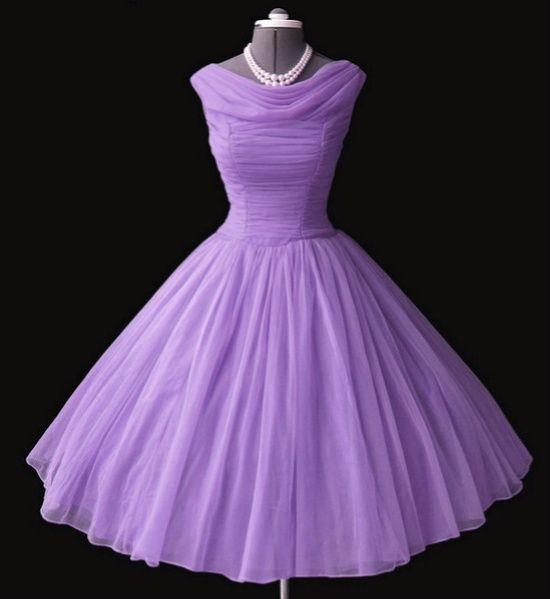 lilac chiffon 50s dress. Oh. My. Gosh. That purple.