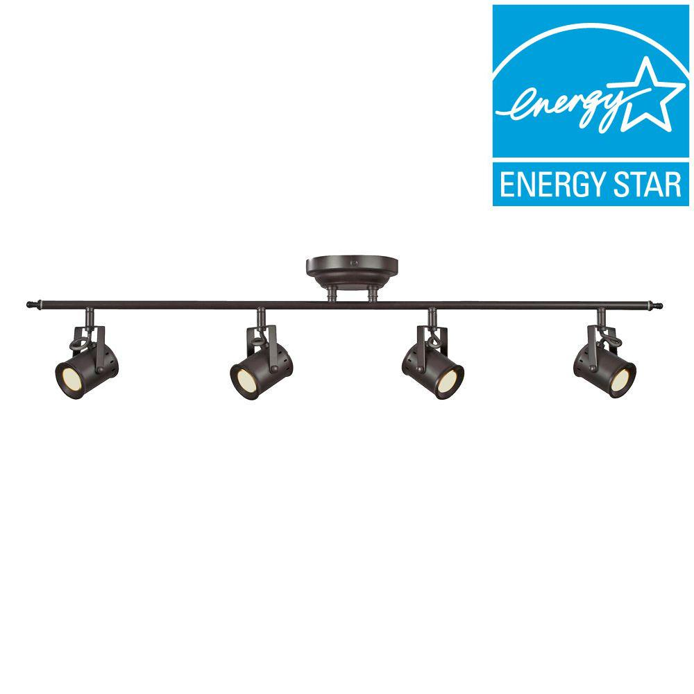 Aspects Studio 4 Light Oiled Rubbed Bronze Dimmable Fixed Track Lighting Kit Stuf430030lrb The Home Depo Track Lighting Kits Track Lighting Lighting Makeover