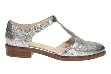 Clarks Taylor Palm - Silver Leather - Womens Casual Shoes | Clarks