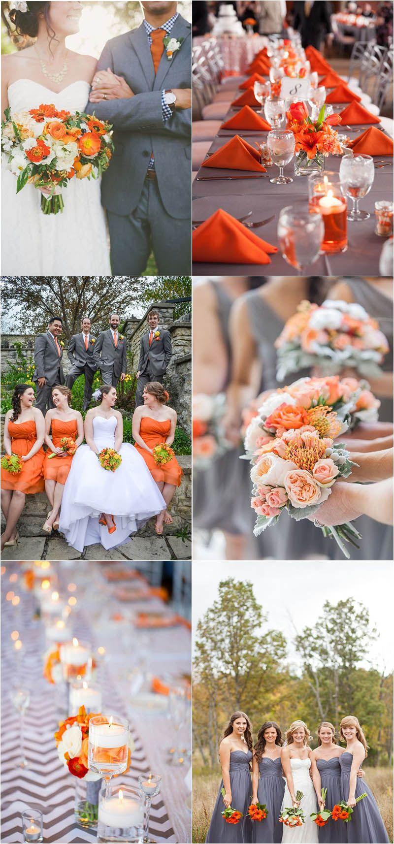 Timeless Grey Wedding Color Palette Ideas To Inspire Orange
