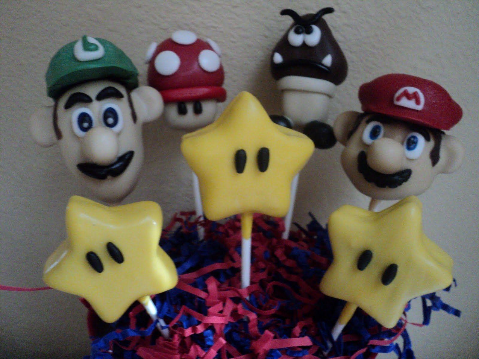 Edible Cake Pop Centerpieces Super Mario Cake Pops In An