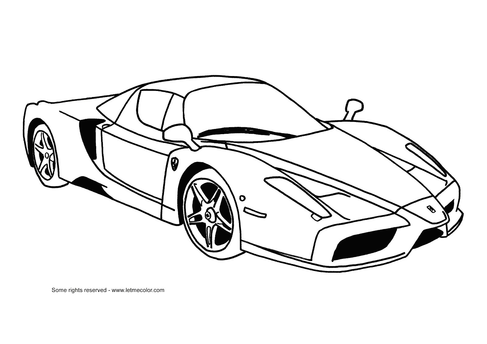 FERRARI coloring pages-22 ITALY  Race car coloring pages, Cars