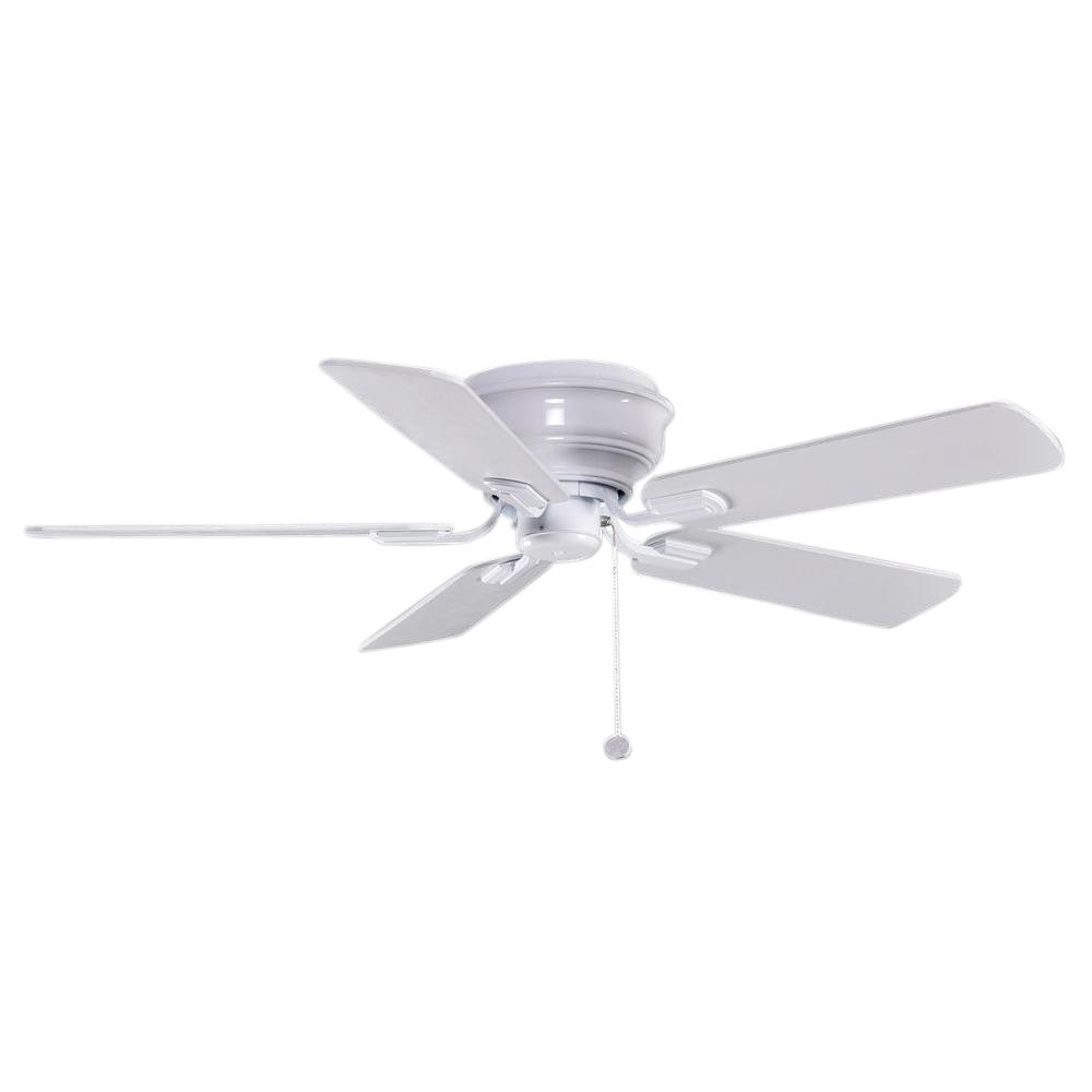 Hampton Bay Hawkins 44 In Indoor White Ceiling Fan Yg204 Wh The Home Depot Ceiling Fans Without Lights Ceiling Fan Ceiling Fan With Light