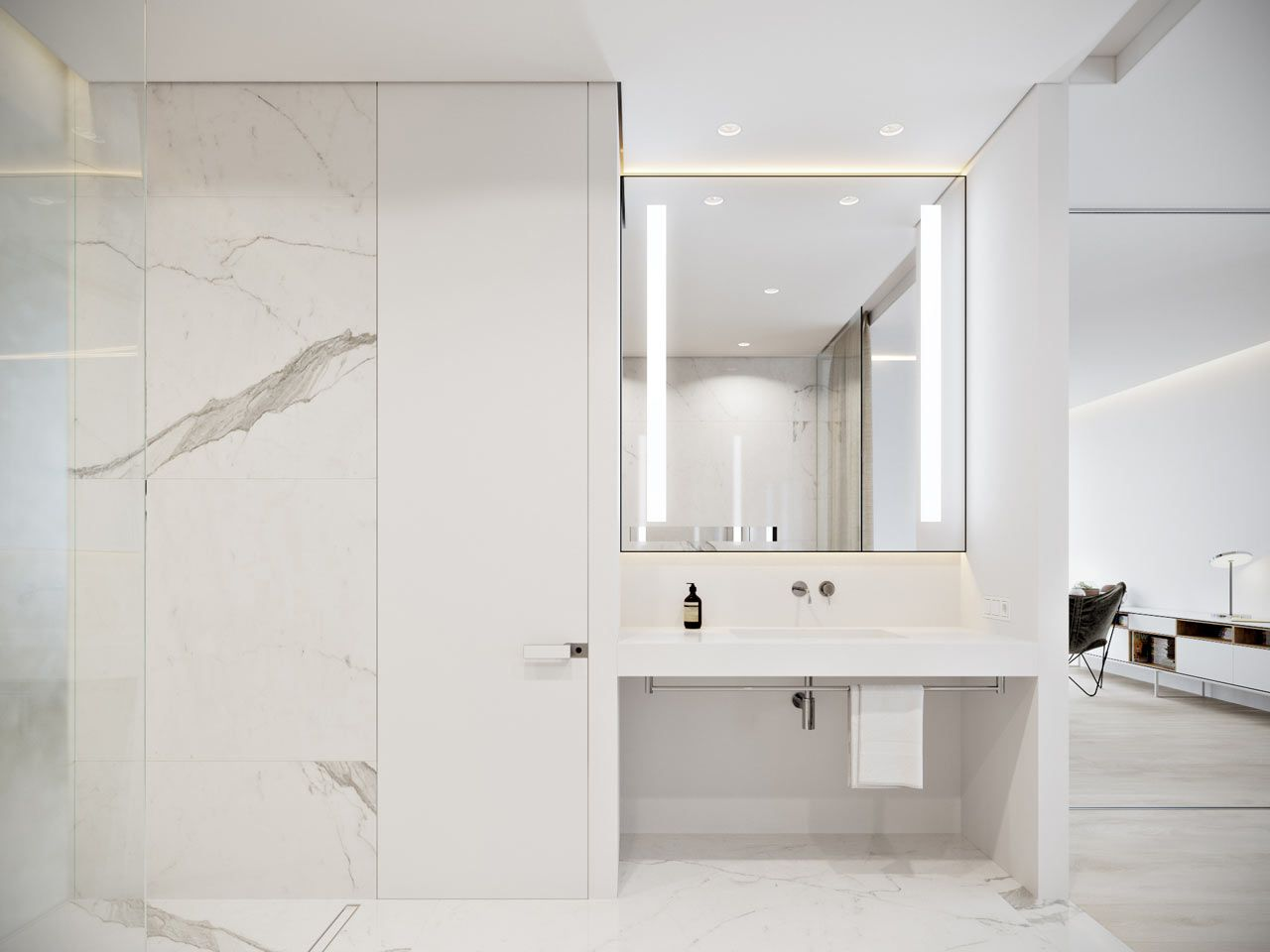 A Minimalist Bachelor Apartment in Montenegro   Construction ...
