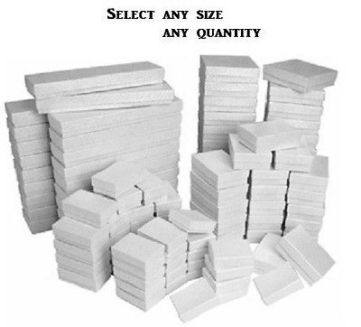 arts-crafts: LOT OF 20~50~100 WHITE COTTON FILLED BOX MIXED WHITE JEWELRY BOXES GIFT BOX #Art #Crafts - LOT OF 20~50~100 WHITE COTTON FILLED BOX MIXED WHITE JEWELRY BOXES GIFT BOX...