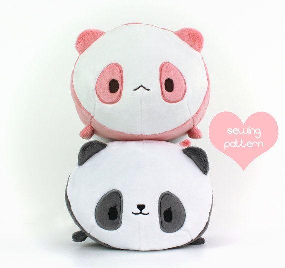 Pdf Sewing Pattern Panda Bear Roll Plush Stacking Loaf Plushie
