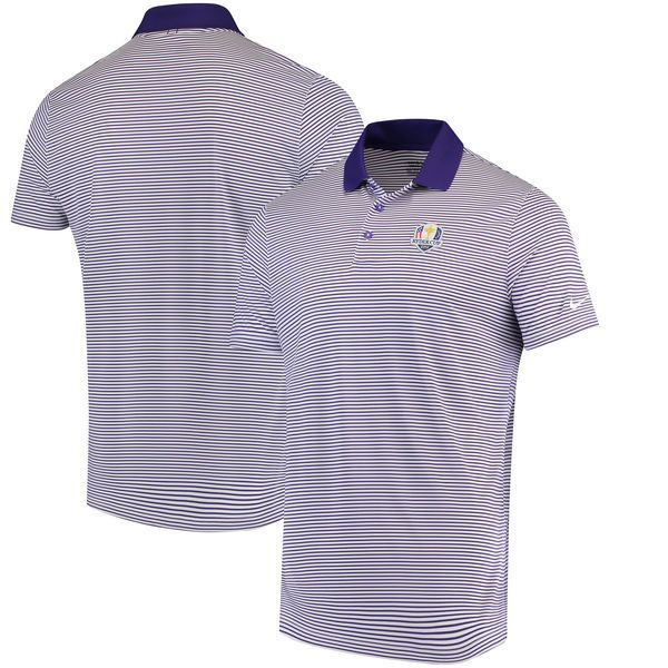 Nike Golf 2018 Ryder Cup Victory Mini Stripe Performance Polo - Purple