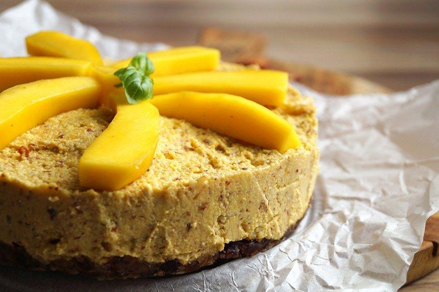 glutenvrije mango cheesecake no-bake
