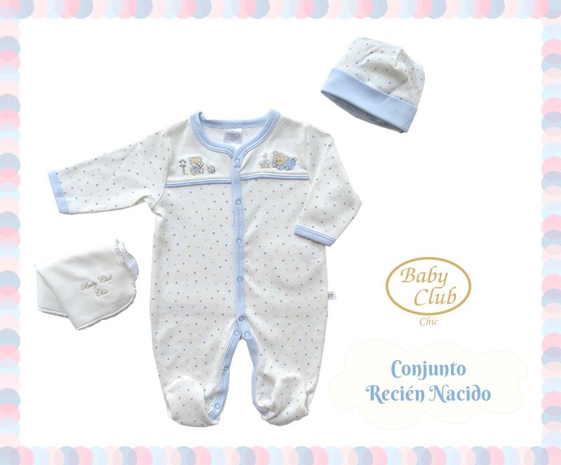 213443a798 Básicos para el Recién Nacido. Enterizo con Gorro y Babita en 100% Algodón  Pima Peruano. Colección Baby Gift by Baby Club Chic.