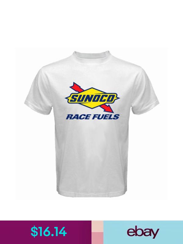 New Sunoco Race Fuels Logo Men S White T Shirt Size S To 3xl White Tshirt Men Shirts T Shirt