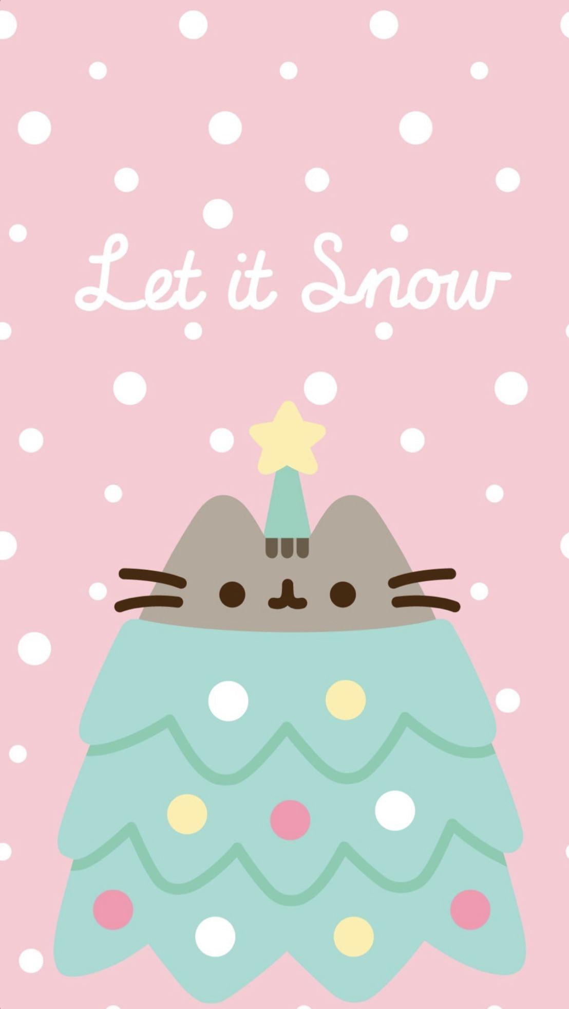 pusheen winter wallpaper!! Pusheen cat, Pusheen cute