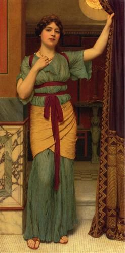 A Pompeian Lady - John William Godward