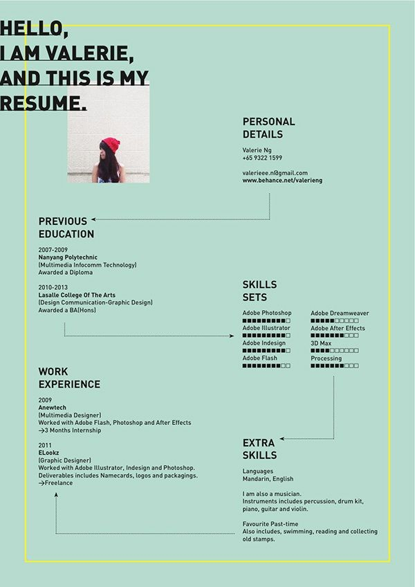 Valerie Ng Creative Resume Template  Graphic
