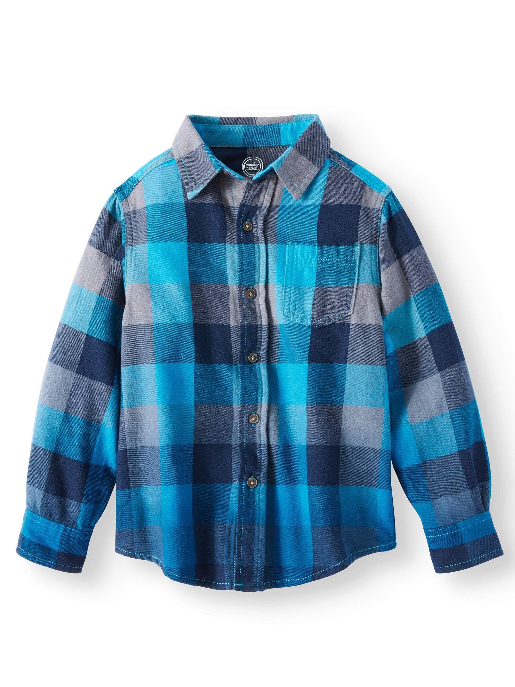 Wonder Nation Boys Long Sleeve Flannel Shirt Long Boys Nation Plaid Flannel Shirt Long Sleeve Flannel Boys Long Sleeve [ 2667 x 2000 Pixel ]