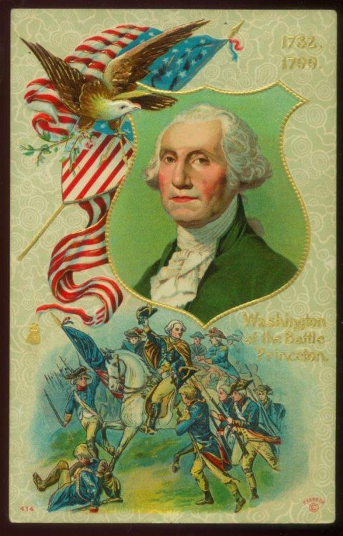 Antique Washington Birthday Postcard, circa 1910