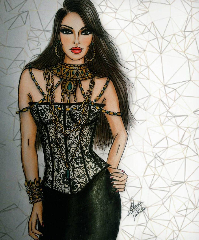 Женщина вамп картинки рисованные