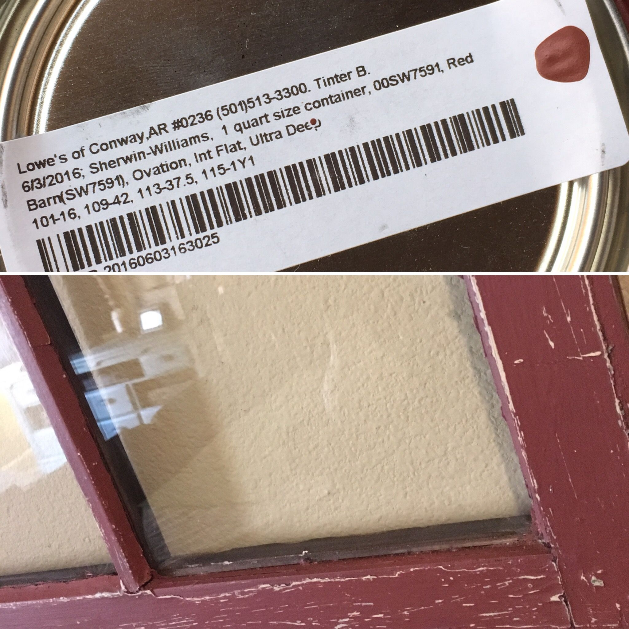 Barn Red from Lowe's by Sherwin Williams is a great paint ...