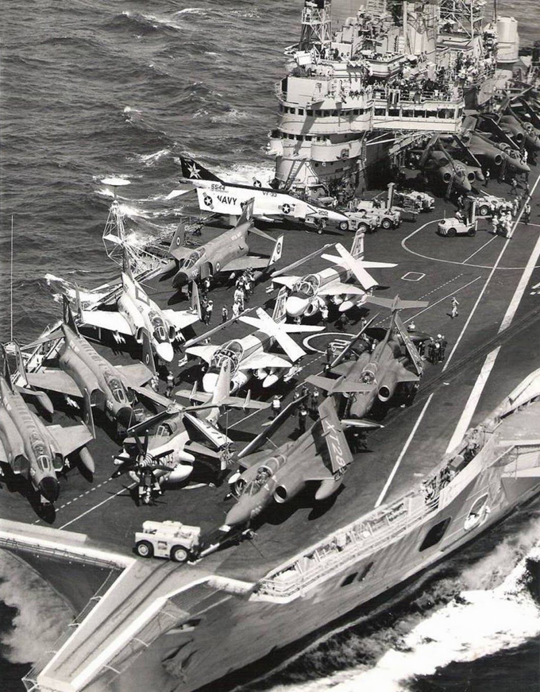 HMS Ark Royal, with a mix of RAF and US planes. | Cold War ...