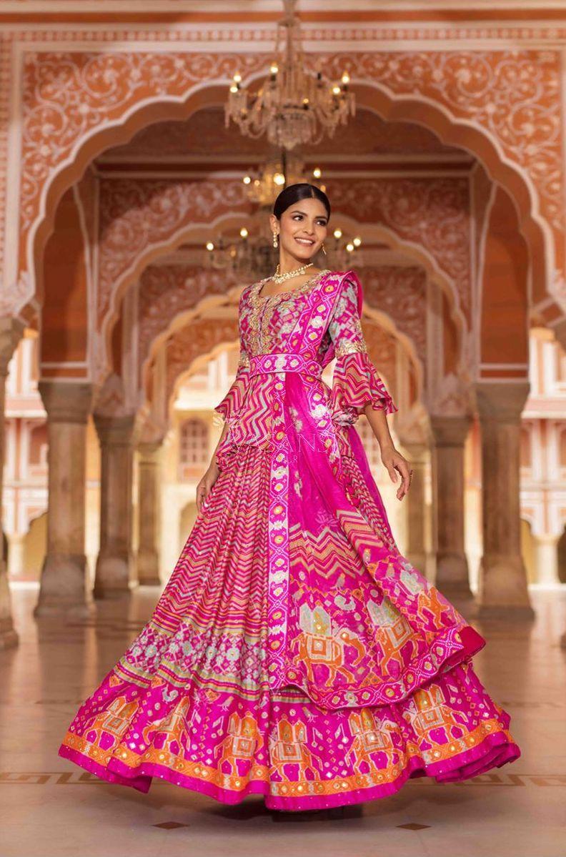Vasansi Leheriya Patola Lehenga - Frugal2Fab | Bandhani dress, Lehenga  designs, Indian outfits lehenga