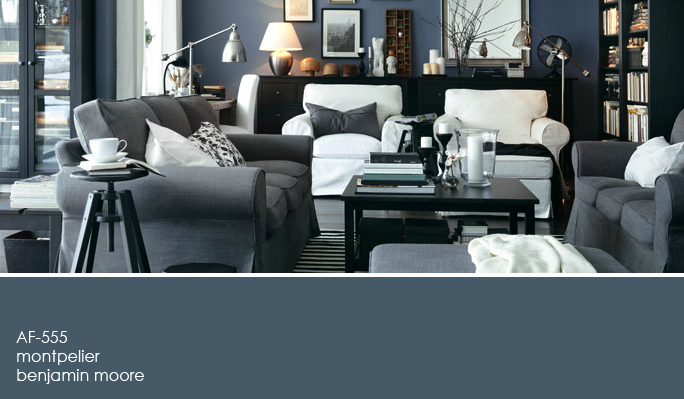 A Blue Gray Living Room Gray Living Room Design Ikea Living