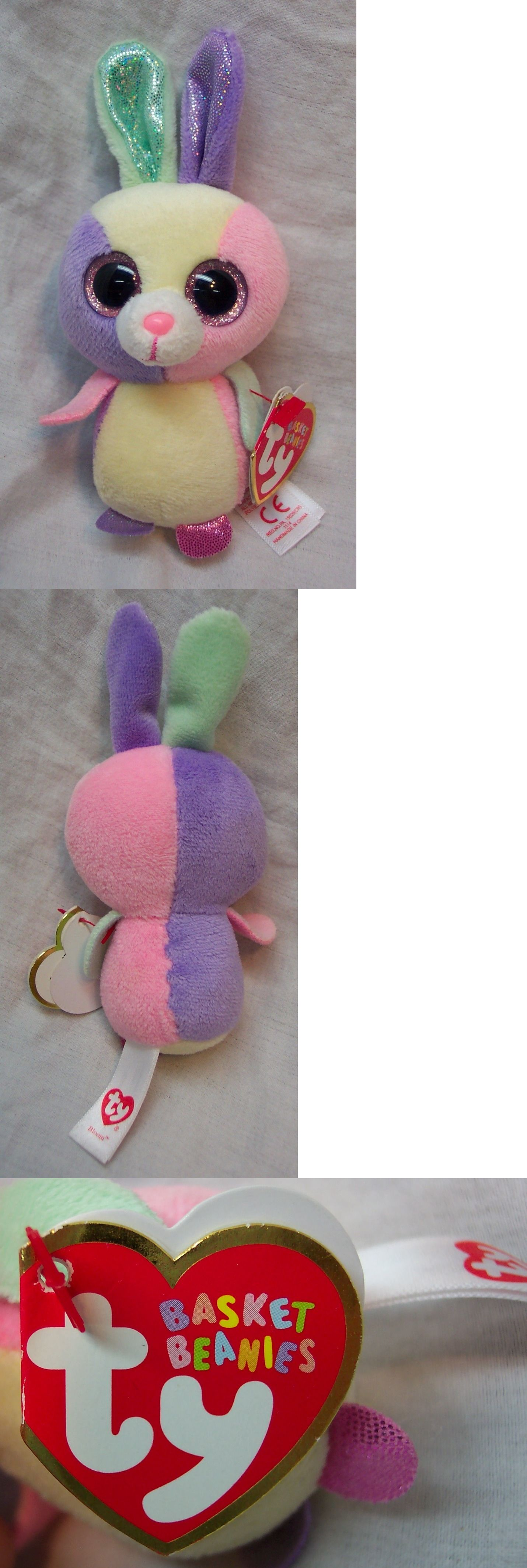 Basket Beanies 158681  Ty Basket Beanies Bloom The Colorful Bunny 5 Plush  Stuffed Animal 2015 New -  BUY IT NOW ONLY   15 on  eBay  basket  beanies   bloom ... a094d6ee2300