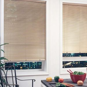 A Tan Mini Blind Can Be An Nice Alternative To Classic White Blinds Custom Window Blinds Horizontal Blinds