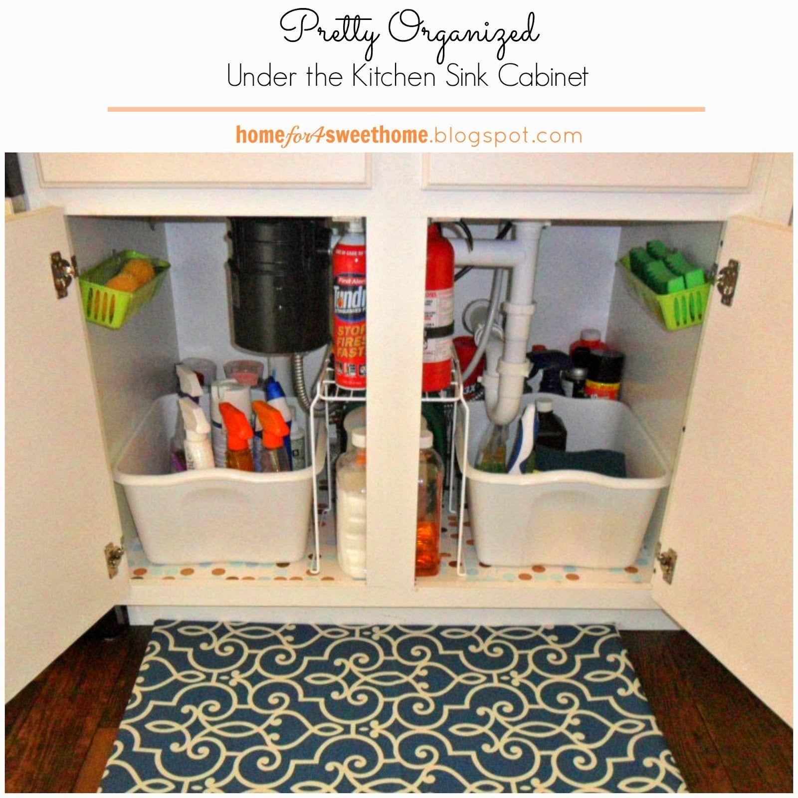 kitchen organizing under the kitchen sink cabinet organization
