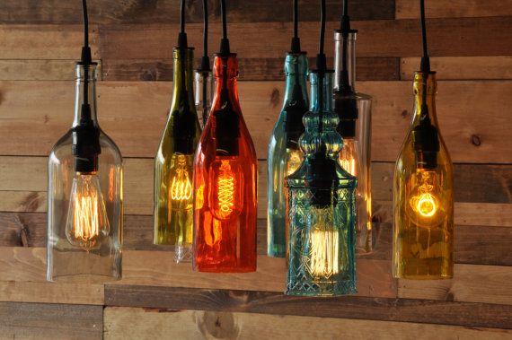 Botellas con luces buscar con google luces con vidrio - Botellas con velas ...