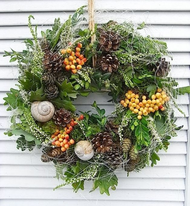 Photo of Door wreaths – autumn wreath door wreath autumn fresh shabby chic C – a designer …