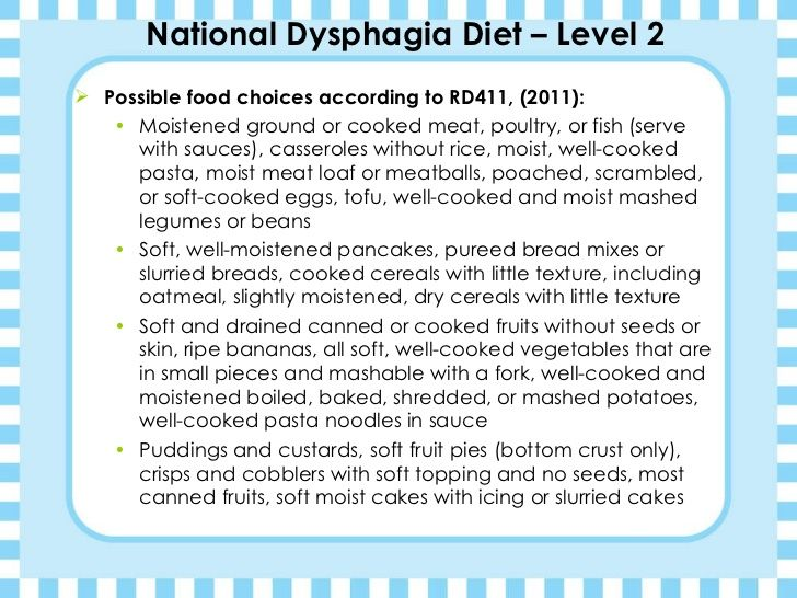 Kimberly Jones Dysphagia Diets Presentation Dysphagia Diet National Dysphagia Diet Diet