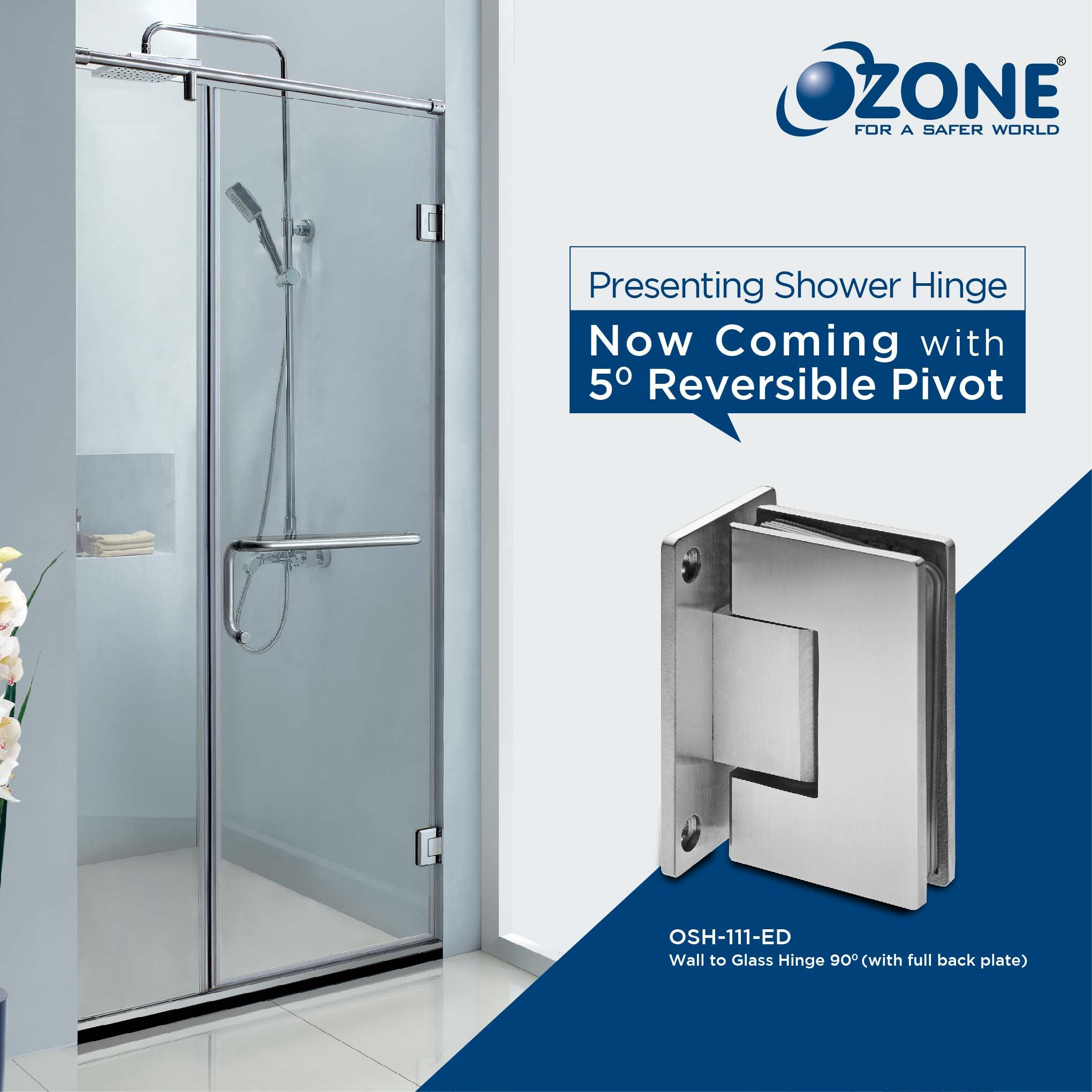 Ozone Is Presenting A Wall To Glass Shower Hinge For Shower