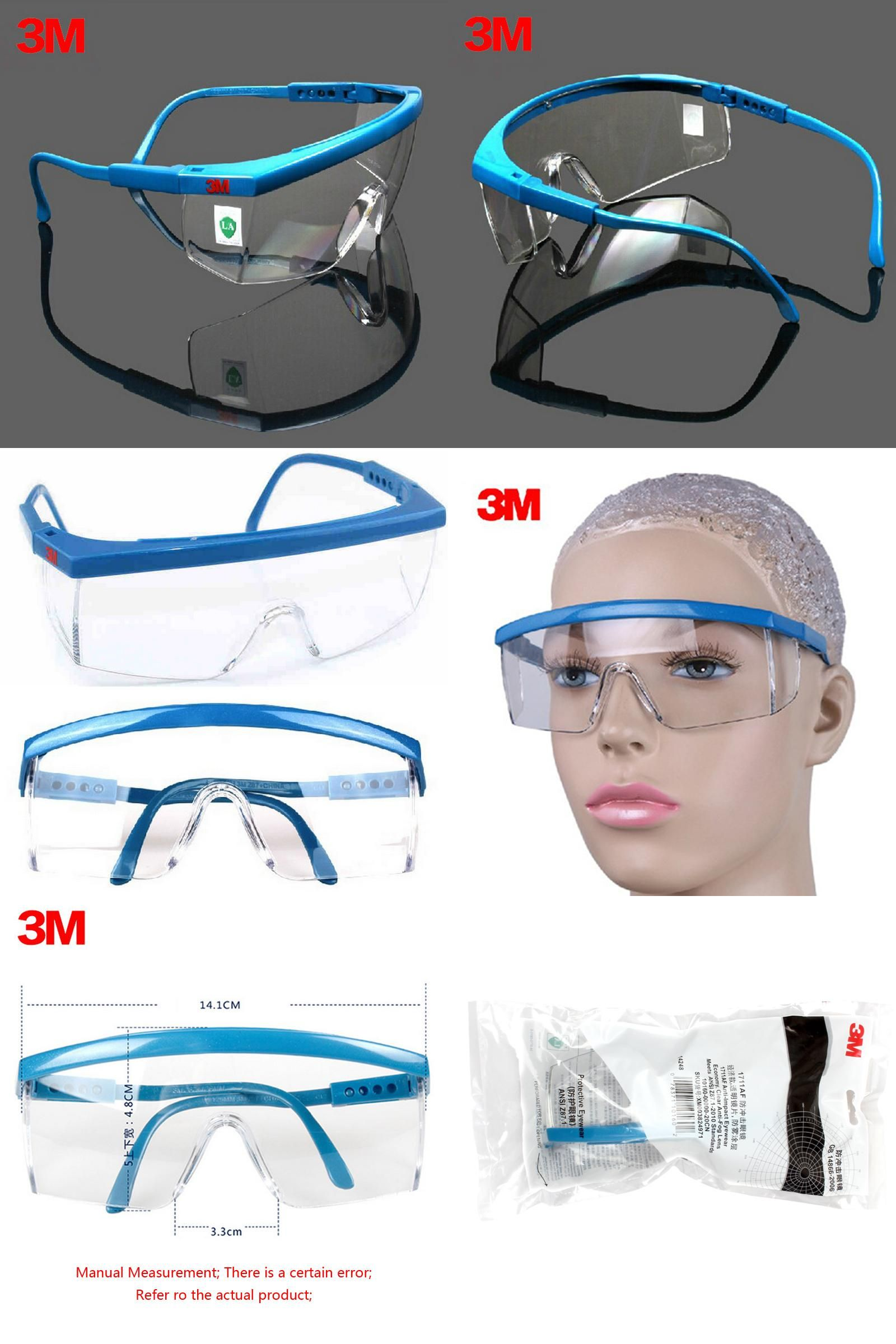 [Visit to Buy] 3M 1711AF Safety Glasses Goggles Anti-wind Anti sand Anti Fog Anti Dust Resistant Transparent Glasses protective eyewear #Advertisement
