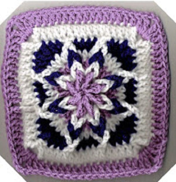 Free Amazing Star Crochet Pattern : amazing star square ~?~Crochet Everything and More ...