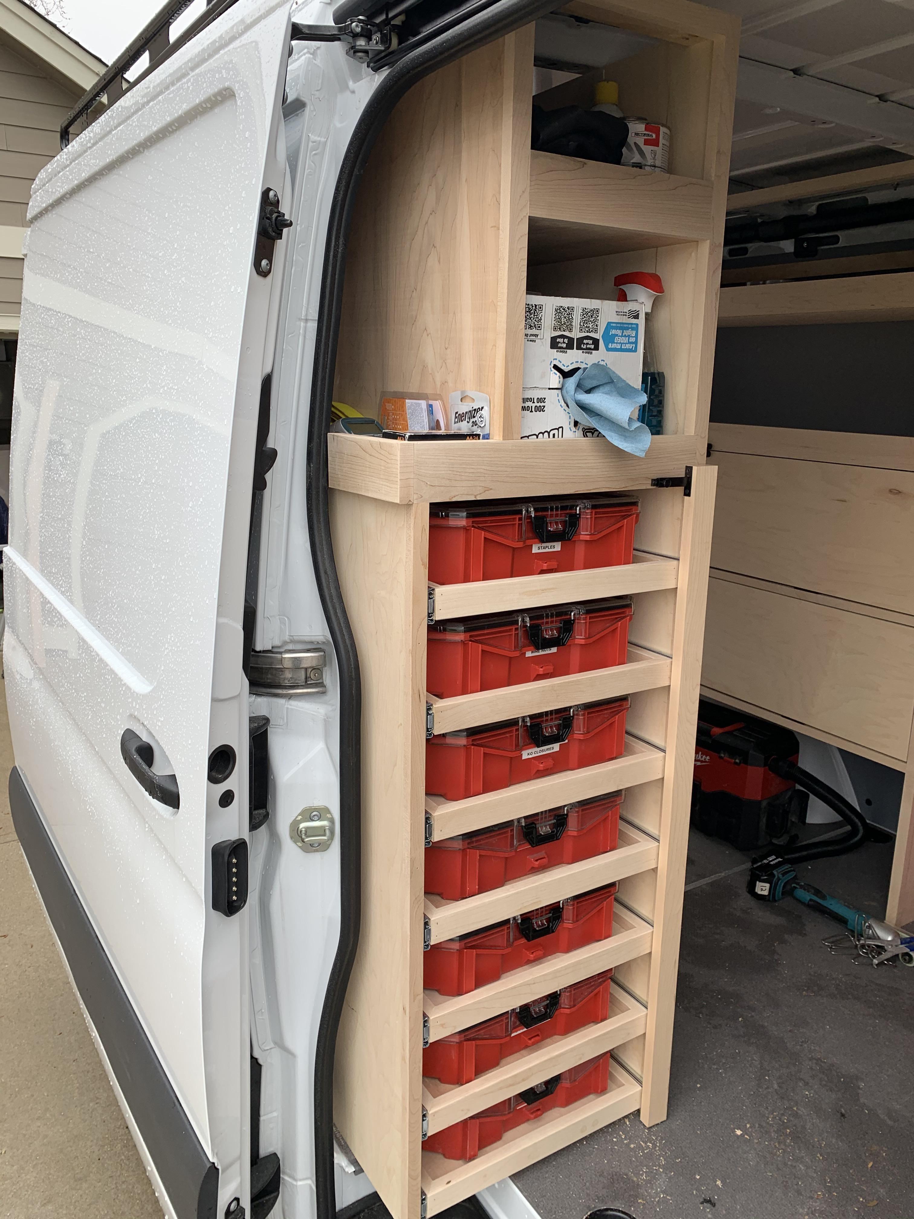Stop On Shelves Van Storage Van Shelving Van Organization