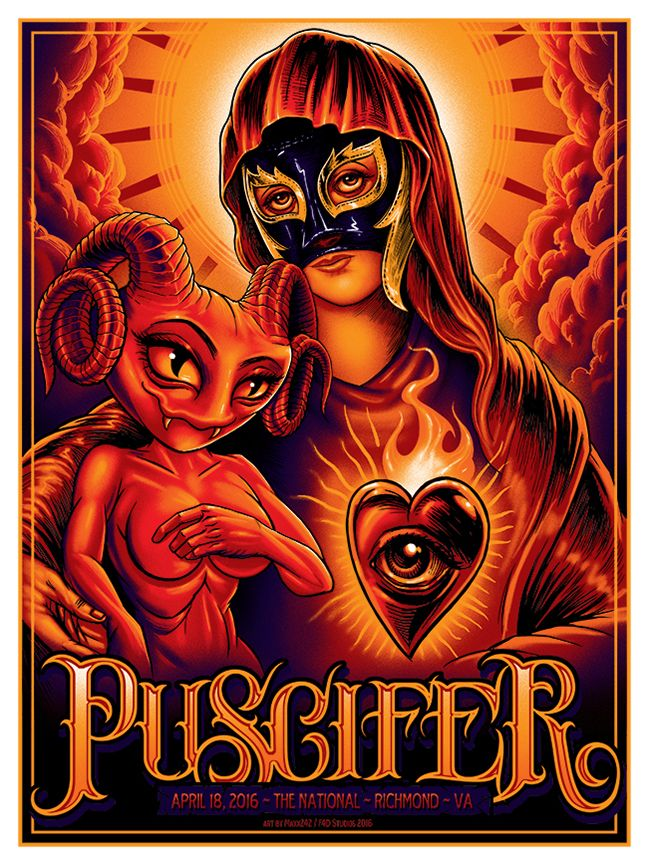 Puscifer Maxx 242 Richmond Poster Release | Gig poster, Music ...