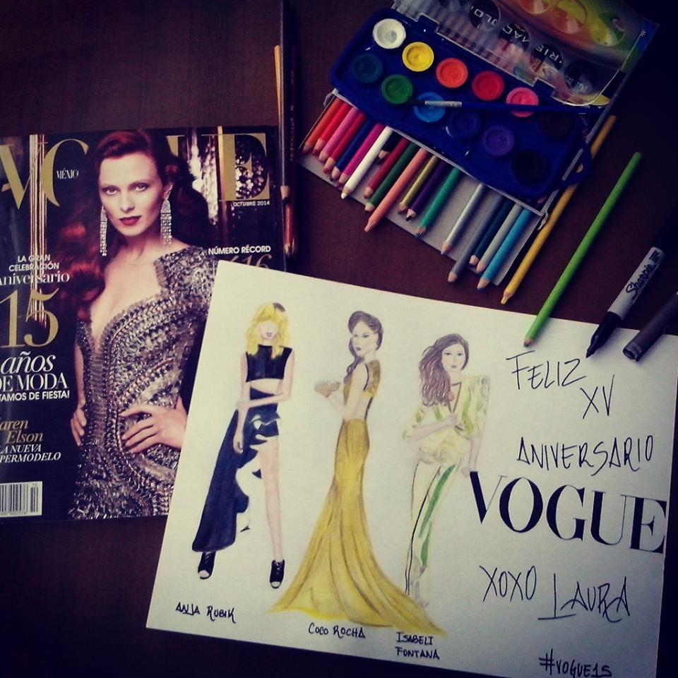 , #Vogue #VogueMagazine #Fashion #Moda #Magazine #Revista #FashionIllustration #Figurines #FashionDesign #DiseñodeModa #Vogue15 #Sketch #FashionSketch …, Anja Rubik Blog, Anja Rubik Blog