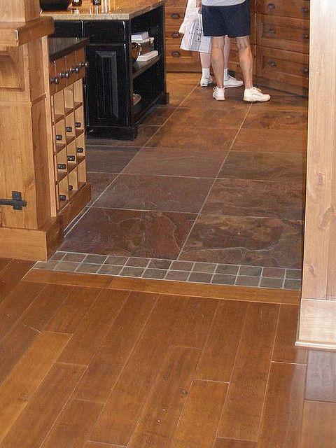Laminate Entryway Flooring Ideas: Wood To Tile Transition Pattern @Bob-Phyllis Williams